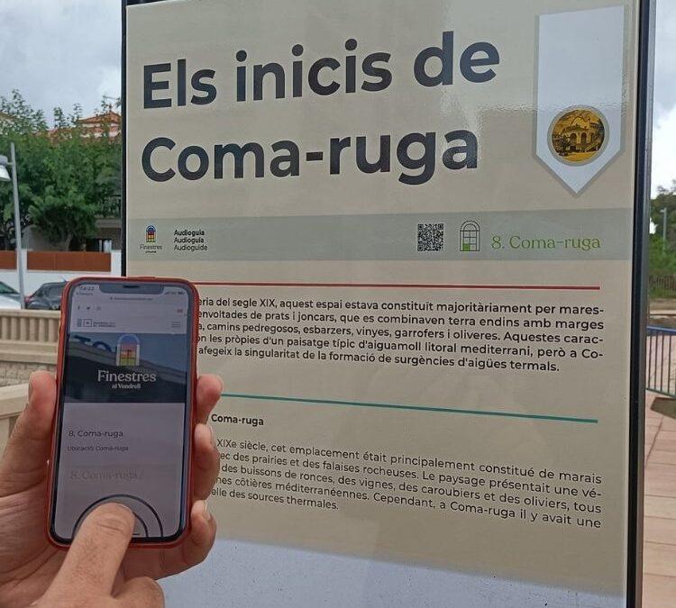 """S'instal·len 9 tòtems informatius de la ruta cultural """"Coma-ruga, un viatge en el temps"""""""